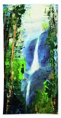 Yosemite Falls Beach Sheet by Elise Palmigiani