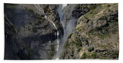 Yosemite Falls From The Four Mile Trail Beach Towel