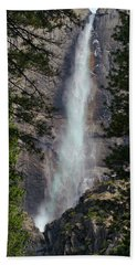 Yosemite Falls In April Of 2008 Beach Towel