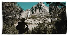 Yosemite Hiker Beach Towel