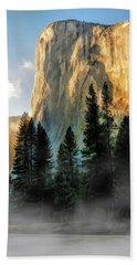 Beach Towel featuring the painting Yosemite National Park El Capitan by Christopher Arndt