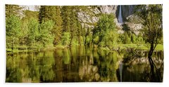 Yosemite Reflections On The Merced River Beach Sheet