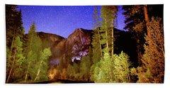 Yosemite Starry Night Beach Towel
