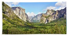 Yosemite Tunnel View Afternoon Beach Towel