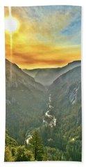 Yosemite Tunnel View Beach Towel