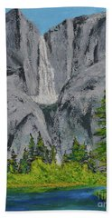 Yosemite Upper Falls Beach Towel