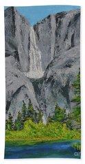 Yosemite Upper Falls Beach Towel
