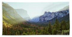 Yosemite Valley Awakening Beach Towel by JR Photography