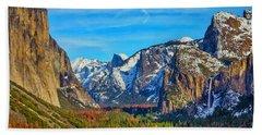 Yosemite Valley Tunnel View Beach Towel