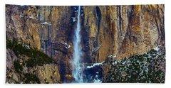 Yosemite Valley Upper Falls Beach Towel