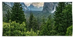 Last Light For Tunnel View Beach Towel
