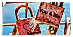 You And Me Beach Towel