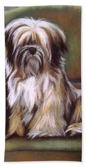 You Are In My Spot Again Beach Towel by Barbara Keith