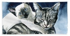 You Are Mine - Cat Painting Beach Towel