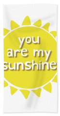 You Are My Sunshine Beach Sheet