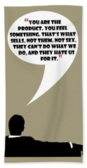 You Are The Product - Mad Men Poster Don Draper Quote Beach Sheet