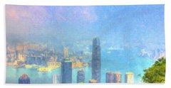 You Can Leave Hong Kong  Beach Towel