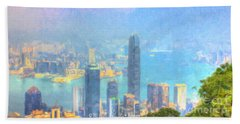You Can Leave Hong Kong  Beach Towel