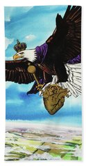 Beach Towel featuring the painting You Can Soar by Nathan Rhoads