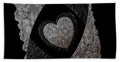 You Encompass My Heart Beach Towel