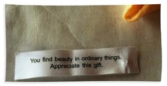 You Find Beauty Beach Towel
