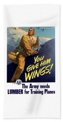 You Give Him Wings - Ww2 Beach Towel