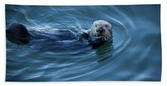Beach Towel featuring the photograph You Otter Take My Picture, Lady by Lora Lee Chapman