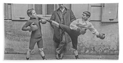 Young Boxers Beach Towel
