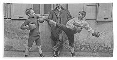 Young Boxers Beach Sheet