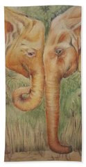 Young Elephants Beach Towel