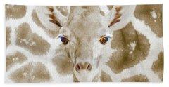 Young Giraffe Beach Towel