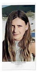 Young Girl, Spain Beach Sheet