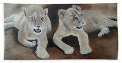 Young Lions Beach Towel