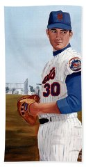 Young Nolan Ryan - With Mets Beach Towel