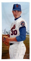 Young Nolan Ryan - With Mets Beach Sheet
