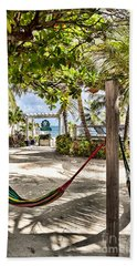 Beach Towel featuring the photograph Your Hammock Awaits You by Lawrence Burry