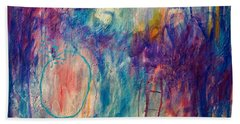 Beach Towel featuring the painting Your Secret Is Safe With Me by Tracy Bonin