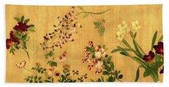 Yuan's Hundred Flowers Beach Towel