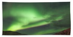Beach Towel featuring the photograph Yukon Northern Lights 2 by Phyllis Spoor