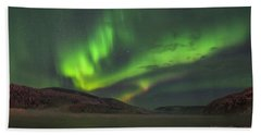 Beach Towel featuring the photograph Yukon Northern Lights 4 by Phyllis Spoor