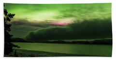 Beach Towel featuring the photograph Yukon Northern Lights 9 by Phyllis Spoor