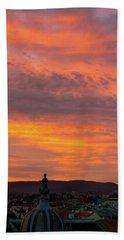 Zagreb Sunset 5 Beach Sheet