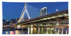 Zakim Bridge And Charles River Beach Towel