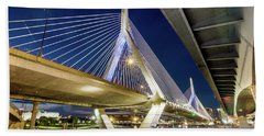 Zakim Bridge From Bridge Under Another Bridge Beach Towel