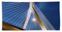 Zakim Bridge Upclose Beach Towel