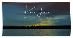 Beach Towel featuring the photograph Zambezi Sunset by Karen Lewis