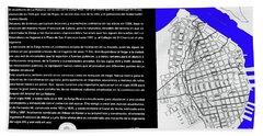 Zanja Real Map Beach Sheet