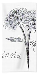 Zannie Zinnia Beach Towel