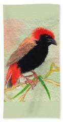 Zanzibar Red Bishop Beach Towel