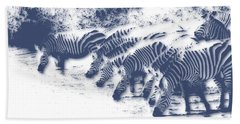 Zebra 3 Beach Towel